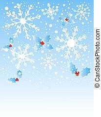 雪片, そして, 西洋ヒイラギ