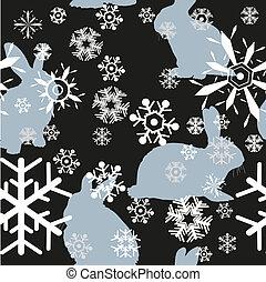 雪片, ウサギ