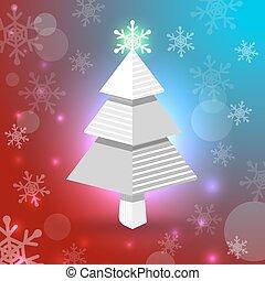 雪片, クリスマスツリー
