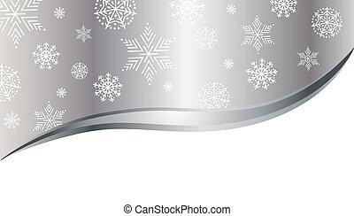 雪片, クリスマス, 背景