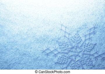 雪片, 上に, 雪