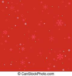 雪片, 冬, 背景, 赤