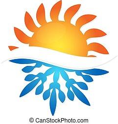 雪片, 太陽, コンディション調整, 空気
