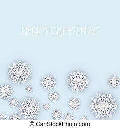 雪片, 白い背景, クリスマス
