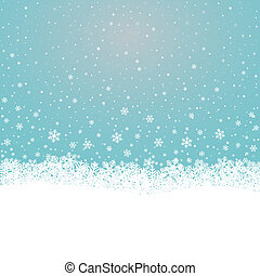 雪片, 雪, 星, 青, 白い背景