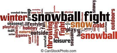 雪玉の戦い