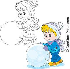 雪球, 孩子