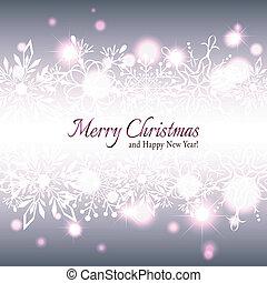 雪花, 星, 圣誕節卡片, 問候
