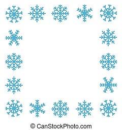 雪花, 邊框