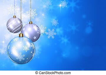 雪, そして, クリスマス, ボール