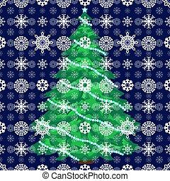 雪, クリスマスツリー, 背景