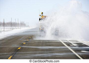 雪, トラック, road.