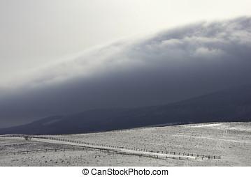 雪, 丘, ∥において∥, 山