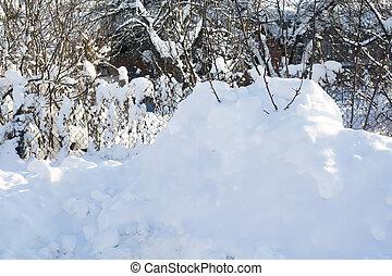 雪, 丘, マクロ