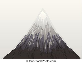雪, 山, フジ