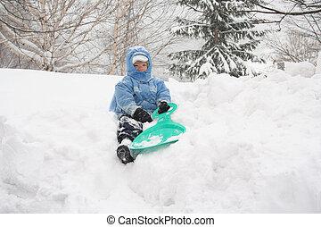 雪, 男の子