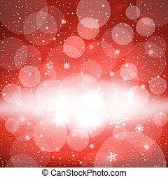 雪, 白熱, クリスマス, 背景, 赤