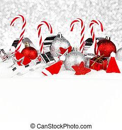 雪, 装飾, クリスマス