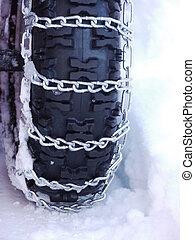 雪, 鎖, tyre