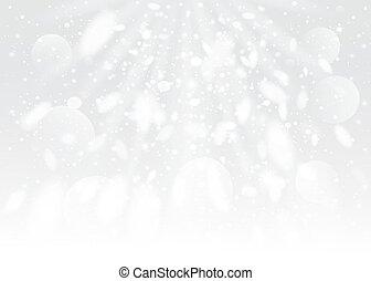 雪, bokeh, バックグラウンド。, ベクトル, eps10.