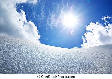 雪, hills.