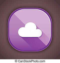 雲, アイコン, ベクトル