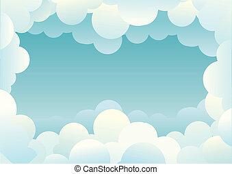 雲, イメージ, デザイン, background.vector