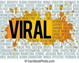 雲, ウィルスである, 概念, 単語, ビジネス