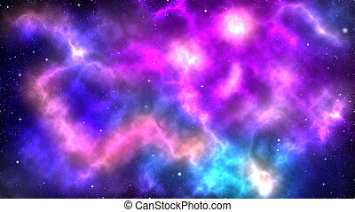 雲, カラフルである, スペース, 星雲, ガス, 星, 外の
