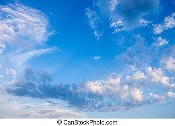 雲, スカイブルー, 白