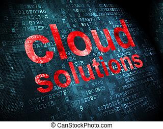 雲, ネットワーキング, concept:, 雲, 解決, 上に, デジタルバックグラウンド