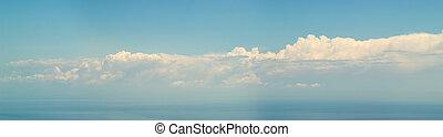 雲, パノラマ, 上に, -, コレクション, 海, 7500px
