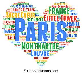 雲, パリ, 単語