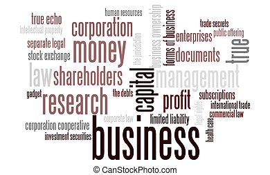雲, ビジネス, 単語