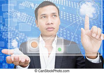 雲, ビジネス, 計算