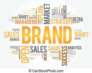 雲, ブランド, 概念, 単語, ビジネス
