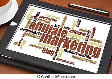 雲, マーケティング, affiliate, 単語