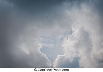 雲, 中に, ∥, 空
