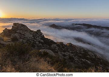雲, 公園, アンジェルという名前の人たち, los, カリフォルニア, ピークに達しなさい, 日の出
