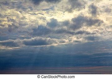 雲, 劇的な 空, バックグラウンド。
