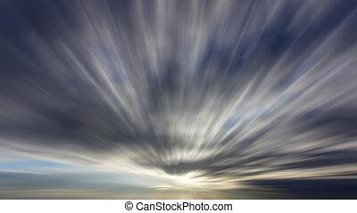 雲, 効果, 長いさらされること