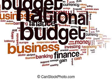 雲, 単語, 国民, 予算