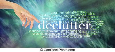 雲, 単語, declutter