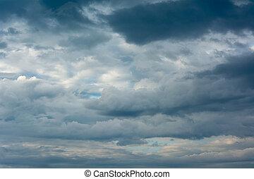 雲, 在, the, 多雨, season.