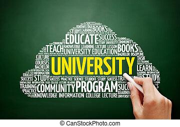 雲, 大学, 概念, 単語, 教育