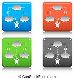 雲, 技術, アイコン