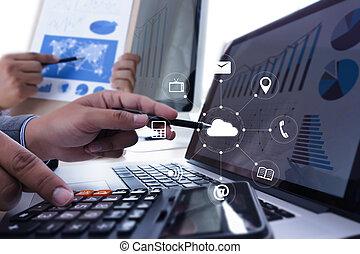 雲, 服務, (cloud, 計算, 圖形, 上, the, 新的計算机, interface)