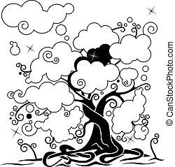 雲, 木, ネットワーク