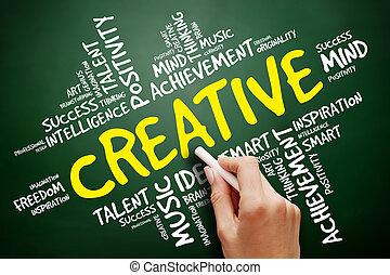 雲, 概念, 単語, ビジネス, 創造的