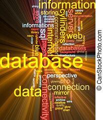 雲, 白熱, 単語, データベース
